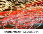 lighting effect  yellow  red... | Shutterstock . vector #689003344