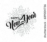 hand drawn happy new year  font....