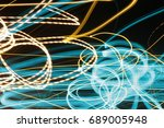 lighting effect  lines in... | Shutterstock . vector #689005948