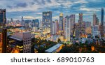 bangkok city sunset and light... | Shutterstock . vector #689010763