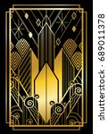 art deco city gold | Shutterstock .eps vector #689011378