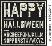 happy halloween decorative... | Shutterstock .eps vector #689013043