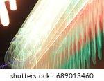lighting effect  multicolored... | Shutterstock . vector #689013460