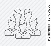 vector flat line businessmen... | Shutterstock .eps vector #689014300