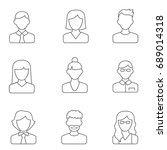 people line icons vector... | Shutterstock .eps vector #689014318