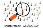 crowd behaviors measuring... | Shutterstock .eps vector #689023369