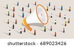 mass marketing communication to ... | Shutterstock .eps vector #689023426
