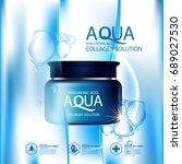 aqua skin collagen serum and... | Shutterstock .eps vector #689027530
