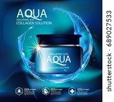 aqua skin collagen serum and... | Shutterstock .eps vector #689027533