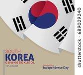 south korea celebrating...   Shutterstock .eps vector #689029240