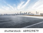 panoramic shanghai skyline and... | Shutterstock . vector #689029879