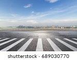 panoramic shanghai skyline and...   Shutterstock . vector #689030770