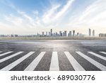 panoramic skyline and buildings ... | Shutterstock . vector #689030776