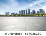 panoramic skyline and buildings ... | Shutterstock . vector #689036290