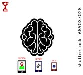brain icon  vector eps 10... | Shutterstock .eps vector #689037028