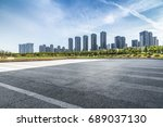panoramic skyline and buildings ... | Shutterstock . vector #689037130