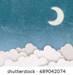sky and moon   illustration | Shutterstock . vector #689042074