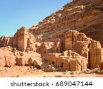 ancient tombs and temples in... | Shutterstock . vector #689047144