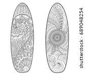 line art design of two... | Shutterstock .eps vector #689048254