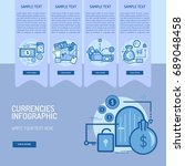 infographic currencies | Shutterstock .eps vector #689048458