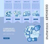infographic currencies | Shutterstock .eps vector #689048500