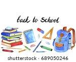 background with school...   Shutterstock . vector #689050246
