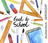 background with school...   Shutterstock . vector #689050249