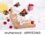 berry dessert  mousse ... | Shutterstock . vector #689052460
