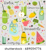 healthy food card | Shutterstock .eps vector #689054776