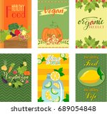 healthy food card | Shutterstock .eps vector #689054848
