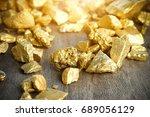 Close Up Lump Of Gold Mine On...