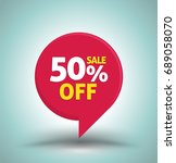 sale red tag isolated vector... | Shutterstock .eps vector #689058070