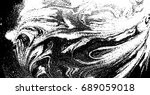 black and white liquid texture. ... | Shutterstock .eps vector #689059018