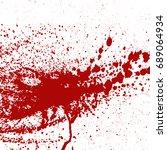 blood or paint splatters splash ... | Shutterstock .eps vector #689064934