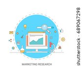 marketing research  big data... | Shutterstock .eps vector #689067298