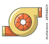 turbo charger icon. cartoon... | Shutterstock .eps vector #689068624