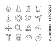 laboratory icon set. collection ... | Shutterstock .eps vector #689072023