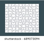 jigsaw puzzle blank template or ... | Shutterstock .eps vector #689073094