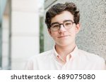 portrait of typical american... | Shutterstock . vector #689075080