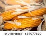 measurement moisture of dry... | Shutterstock . vector #689077810
