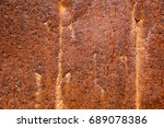 old rusty metal surface... | Shutterstock . vector #689078386