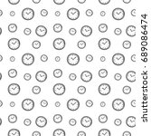 seamless clock background.... | Shutterstock .eps vector #689086474