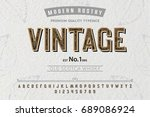 font. alphabet. script.... | Shutterstock .eps vector #689086924
