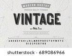 font. alphabet. script.... | Shutterstock .eps vector #689086966
