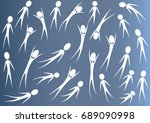 vector drawing people icon sign | Shutterstock .eps vector #689090998