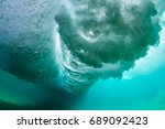under water scene  crashing... | Shutterstock . vector #689092423
