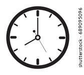 Clock Icon  Outline  Isolated...