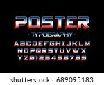 vector of modern stylized bold... | Shutterstock .eps vector #689095183