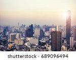 bangkok view with skyscraper in ... | Shutterstock . vector #689096494