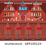drinking establishment.... | Shutterstock .eps vector #689100124